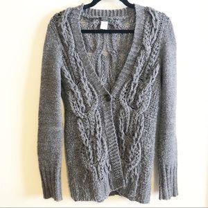 J. Crew Grey Chunky Handknit Sweater Size Medium